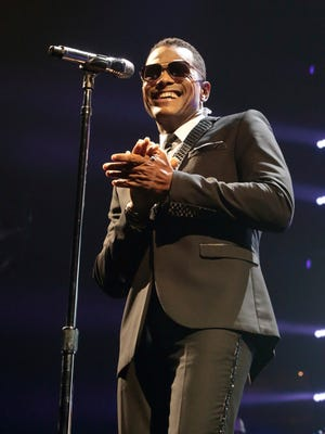"Maxwell performs in concert during the ""King and Queen of Hearts Tour"" at the Wells Fargo Center on Wednesday, Nov. 9, 2016, in Philadelphia. (Photo by Owen Sweeney/Invision/AP)"