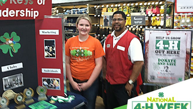 This year, Sumner County 4-H is celebrating National 4-H Week by selling 4-H Paper Clovers at the Gallatin and Hendersonville Tractor Supply locations with proceeds benefiting the Sumner County Junior 4-H Camp scholarships.
