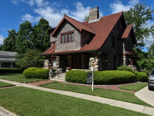 The century-old four story stone home of Mike Grahek