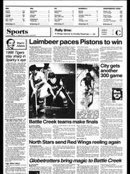 Battle Creek Sports History: Week of March 31, 1986