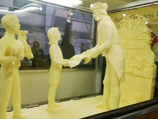 The York Fair butter sculpture as revealed at 6 p.m. on Thursday, Sept. 10, 2015.