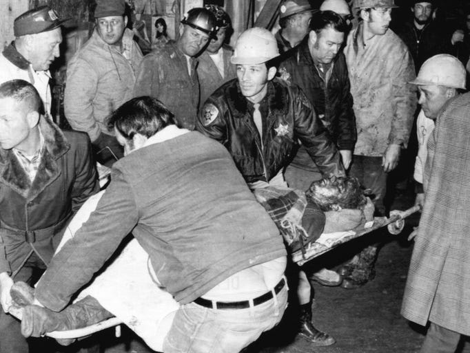 On Dec. 11, 1971, a shotgun-like blast was heard in