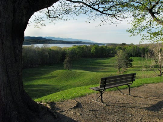 A view of the Catskill Mountains as seen from Vanderbilt Mansion Historic site in Hyde Park. Admission to the grand estate is free during National Park Weekends, April 15-16 and 22-23.