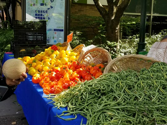 Fresh picked produce from local farmer's markets will