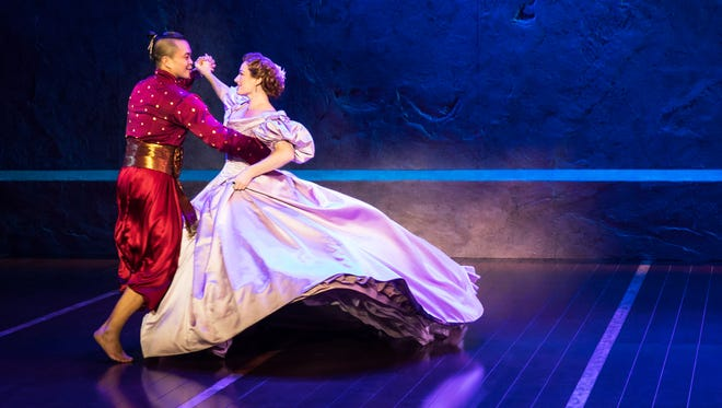 "Jose Llana and Laura Michelle Kelly in ""The King and I."" Photo by Matthew Murphy."