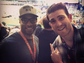 Bryan Greenberg (R) attends his first Super Bowl with