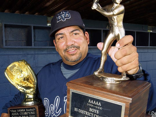 Rudy Gutierrez—El Paso Times Del Valle's O'Neill Sanchez is the All City Baseball Coach of the Year.