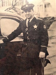 Holly Holcomb when he was an Oregon State Police trooper in 1947 in Klamath Falls.