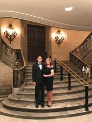 Michael Chen, left, and Marlo Thomas at the Hotel DuPont during the Common Wealth Awards events.
