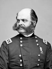 Ambrose Burnside, born in Liberty, Indiana in 1824,