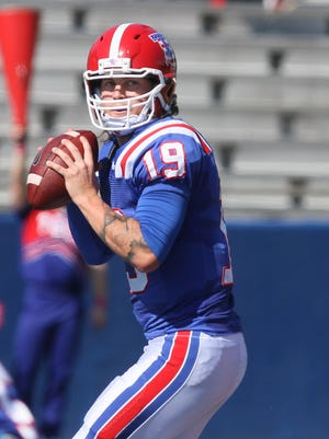 Louisiana Tech quarterback Cody Sokol threw for a career-high 423 yards Saturday in a 31-20 win over Southern Miss.