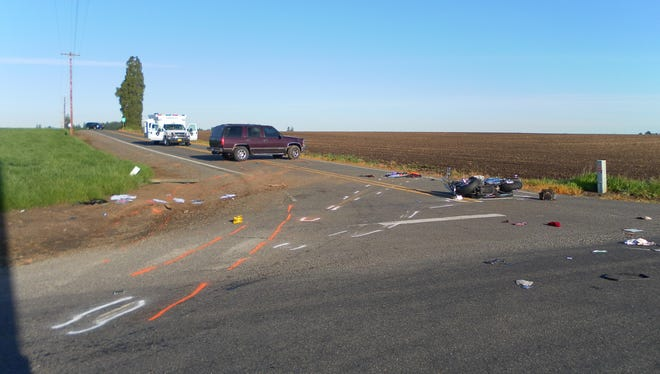 Crash on Howell Prairie Road.