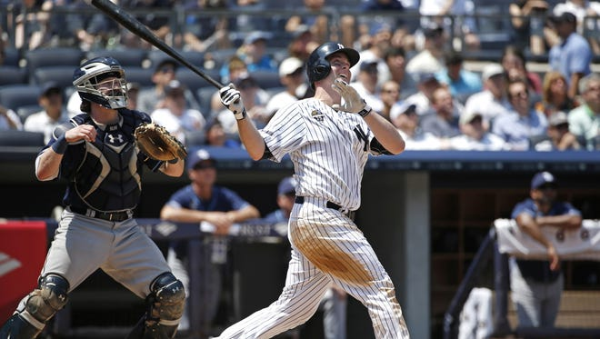 Yankees catcher Brian McCann finished the first half swinging the bat well, but his numbers for the season have been below expectations.