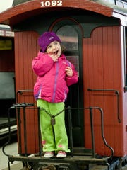 Sophia Kicciardi, 3, of Oconomowoc, who loves building model trains with her grandfather, got to see a real train at the Milwaukee County Zoo.