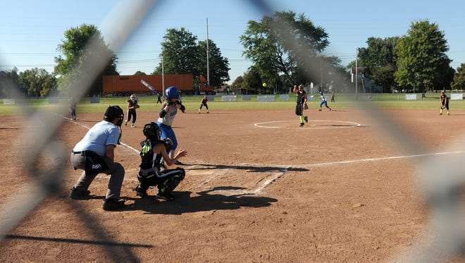 Youth softball tournament games, like this one in the file photo, could return to the River Valley Baseball for Youth Complex on Ohio 309 later this summer. Plans for the return of its fall leagues are in the works.