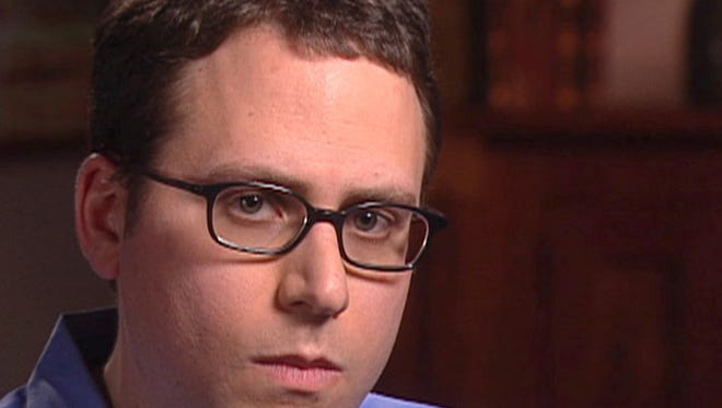"""Stephen Glass, shown in a file photo of a video released in 2003 by CBS' """"60 Minutes,"""" shows Stephen Glass, former writer for The New Republic in New York."""
