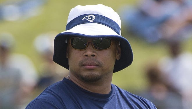 St. Louis Rams assistant Strength/Conditioning coach J. Aggabao during St. Louis Rams Camp.