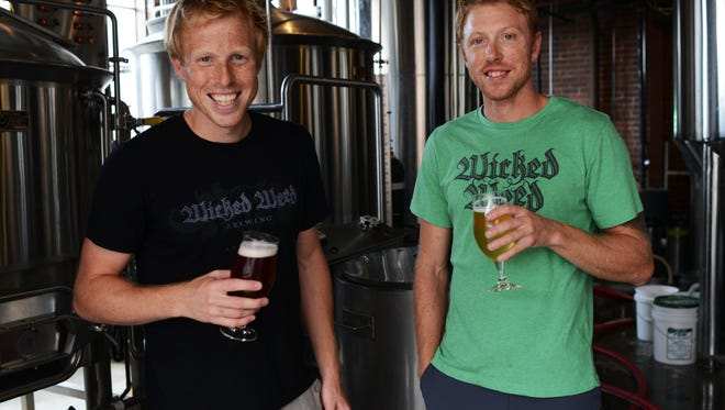 From August 2013: Brothers Luke and Walt Dickinson are the brewers behind Wicked Weed brewery on Biltmore Ave. After eight months of business, they're projecting to have over 90 different types of beers brewed in 2013.