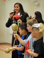 Grammy award-winning Mariachi Divas sang and played at ben Milam Elementary Friday morning. The all-girl mariachi band performed a number of Disney sing-alongs with the children.