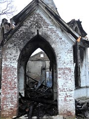 Fire destroyed a historic chapel on the grounds of the Mt. Olivet Cemetery in Nashville on Sunday night. 