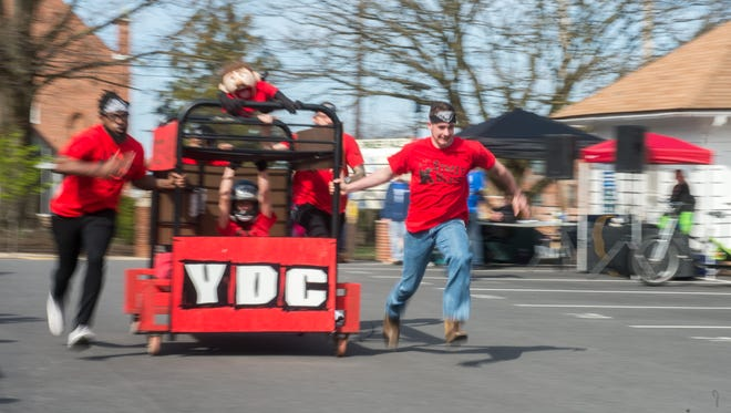 There were eight bed-racing teams competing and raising money for Bell Socialization Services during the recent event. Collectively the teams raised $4,216.