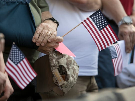 Hundreds of supporters gathered at Veterans Memorial Island Sanctuary in Vero Beach on Monday, May 29, 2017, for the annual Memorial Day Ceremony.