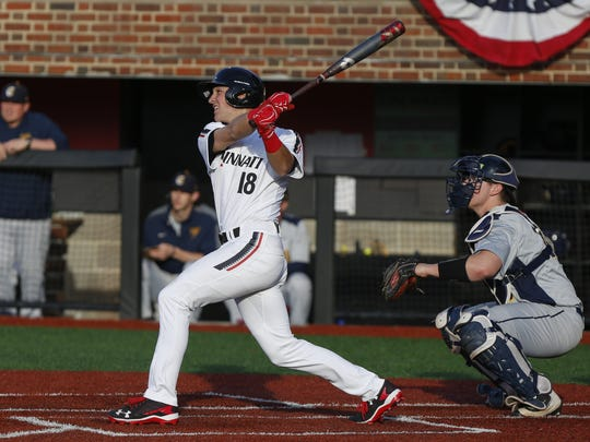 Provided/University of Cincinnati Mason product Connor McVey leads the resurgent Cincinnati Bearcats with a .304 batting average, .396 on-base percentage and 23 steals. Mason High School product Connor McVey leads the resurgent Cincinnati Bearcats in hitting.