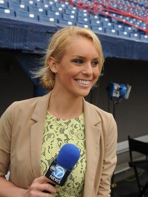 File photo 2013: Britt McHenry, weekend sports anchor and reporter for ABC 7, in Washington D.C., is from Satellite Beach. She is covering Nationals baseball team Spring training, in Viera.