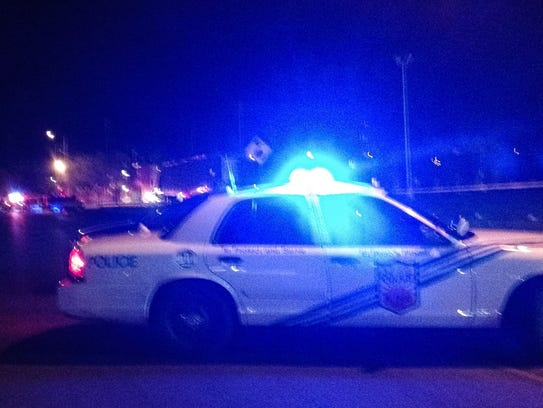 Police investigate a shooting Wednesday night on Sanders