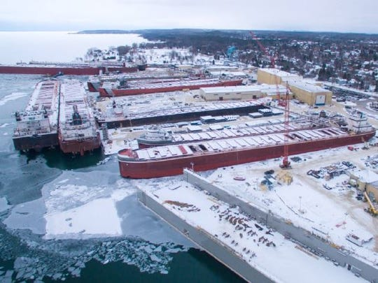 Five ships are more than 1,000 feet in length at Fincantieri Bay Shipbuilding, Sturgeon Bay.