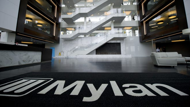 The interior of Mylan's U.S.  headquarters is seen July 14, 2014 in Canonsburg, Pa.