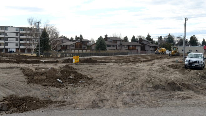 Preparatory ground work is underway at the proposed site of a new Sleep Inn/Mainstay Hotel proposed by Town Pump next to Holiday gas station near the corner of Country Club Boulevard and Fox Farm Road.