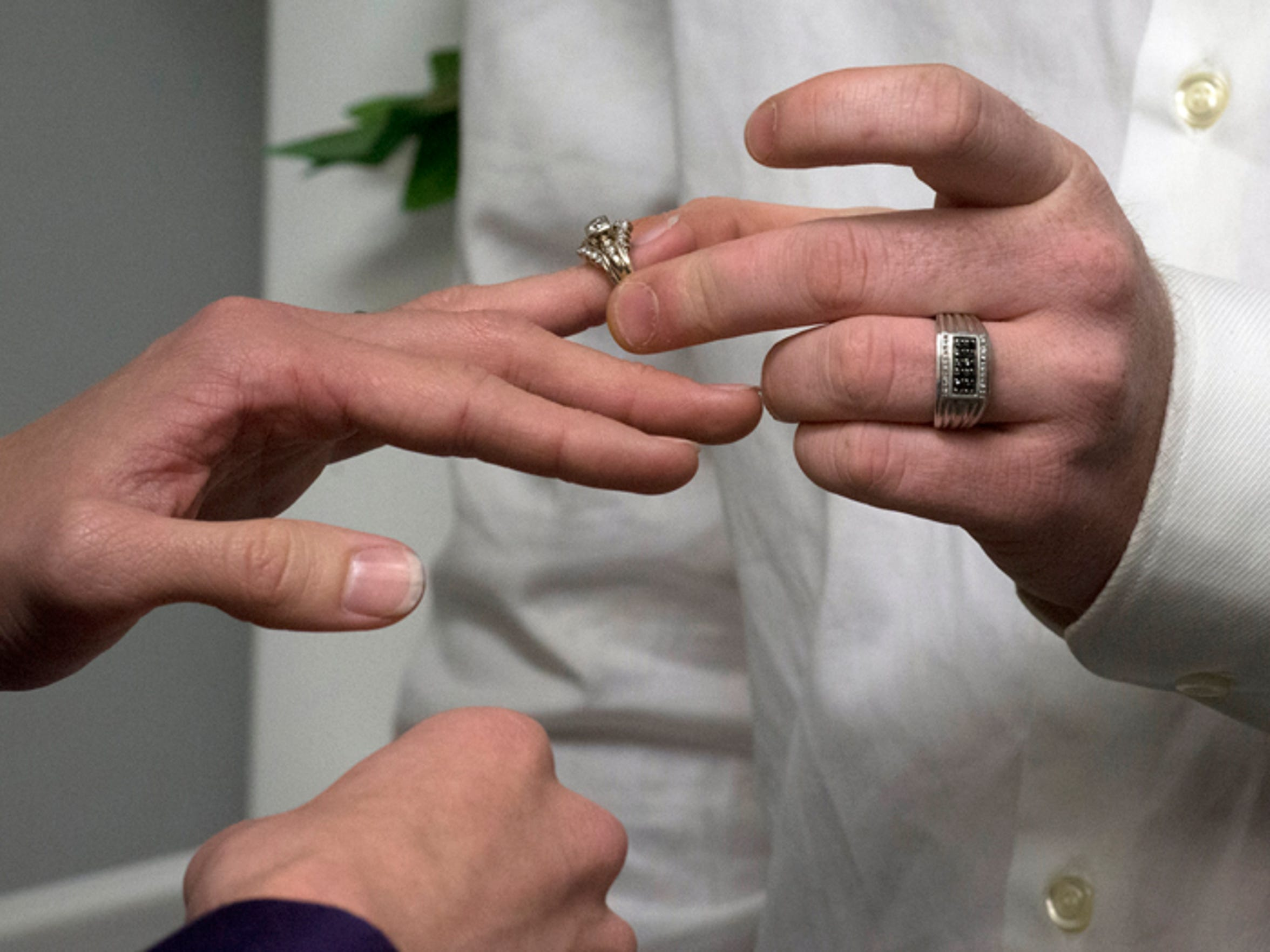 Same-sex couples in the local area marry at the Escambia County Court House Tuesday morning Jan. 6, 2015.