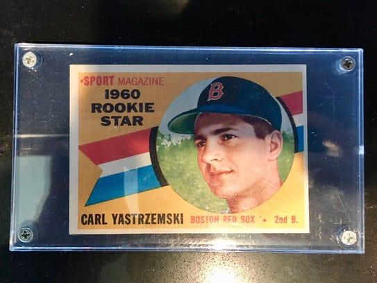 Carl Yastrzemski rookie baseball card in Vanderbilt