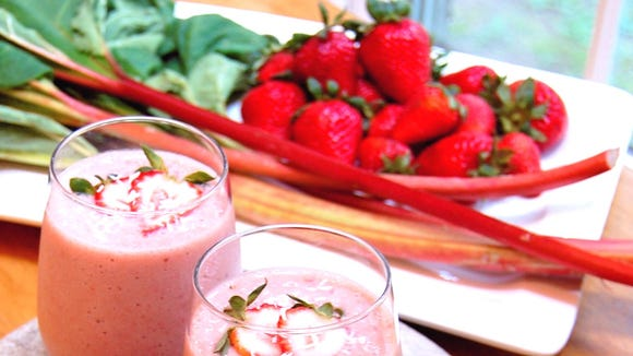 Strawberry Rhubarb Shake is summer in your mouth.