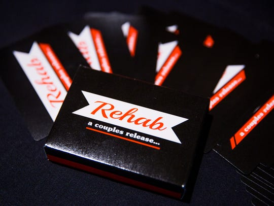 "The card game ""Rehab,"" designed by Ashley Chaffee and"