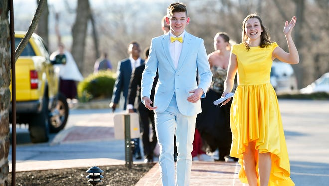 Students and their guests attend Red Lion Area Senior High School's prom at the Country Club of York Saturday, April 8, 2017, in Spring Garden Township.