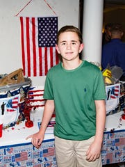 Ryan Baudo was on hand collected items for local soldiers.