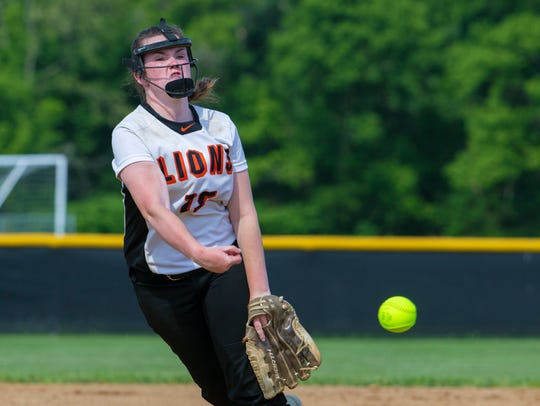 Middletown North pitcher Malori Bell. Middletown North