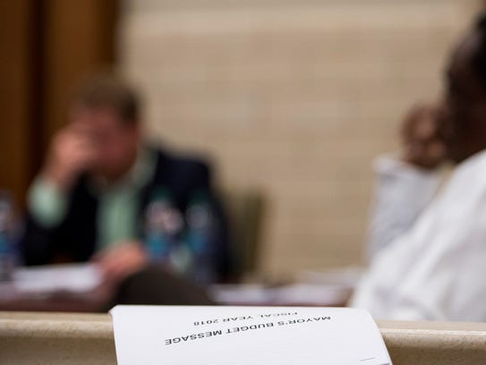 The Montgomery City Council holds a work session on