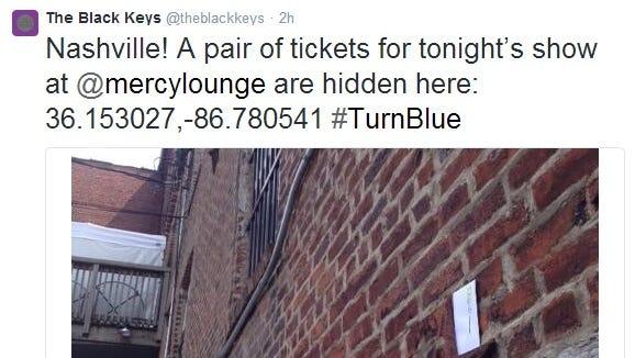 A tweet from the Black Keys