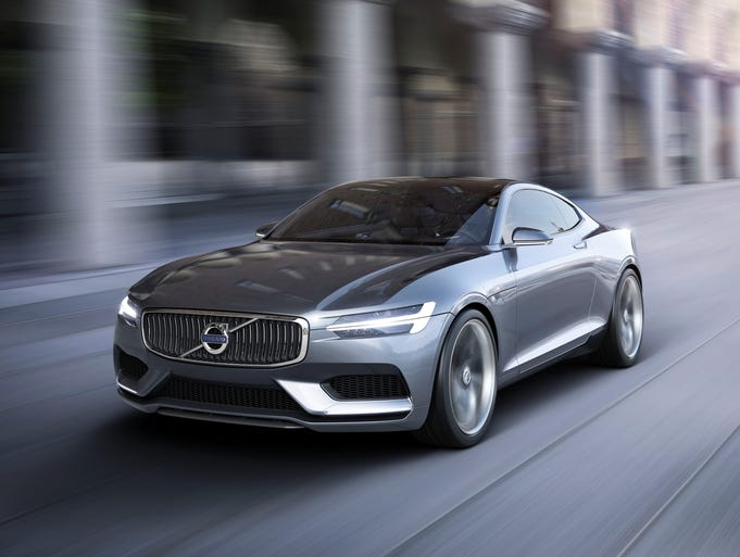 Volvo Concept Coupe is meant to call to mind the 1960s P1800.