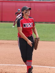 Lakota West pitcher Stephanie Maldonado delivers a