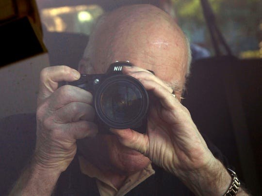 U.S. Senator Patrick Leahy from Vermont takes pictures
