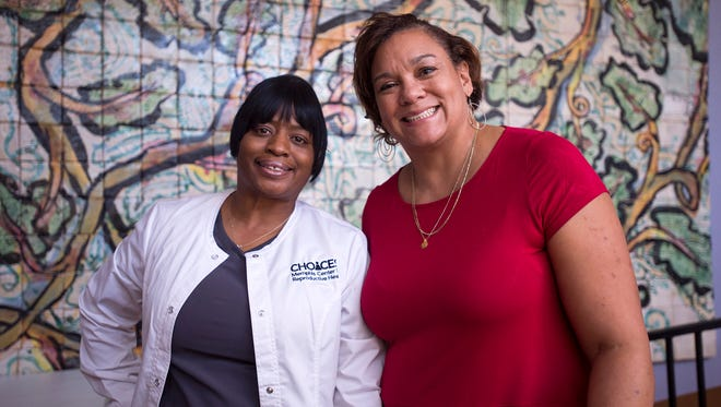 Dr. Susan Lacy (right, with her assistant Danette Bingham) is director of obstetrics and ambulatory gynecology at Choices Memphis Center for Reproductive Health. Choices has launched an initiative to create the nation's first non-profit comprehensive reproductive health center.