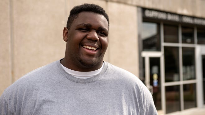 October 27, 2016 - Reginald Albright prepares for a pre-sentencing interview in Federal court at the Clifford Davis and Odell Horton Federal Building. Albright pleaded guilty to violating the Hobbs Act, but was allowed to vote by the court before receiving his sentence and becoming a convicted felon.