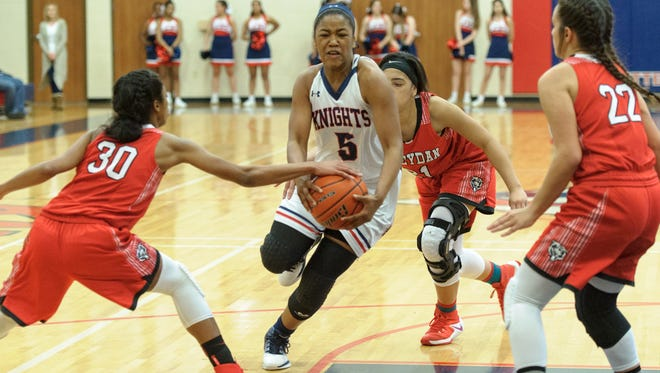 Sasha Rudd and her LCA Lady Knights will be facing a tall task in Cedar Creek on Thursday.