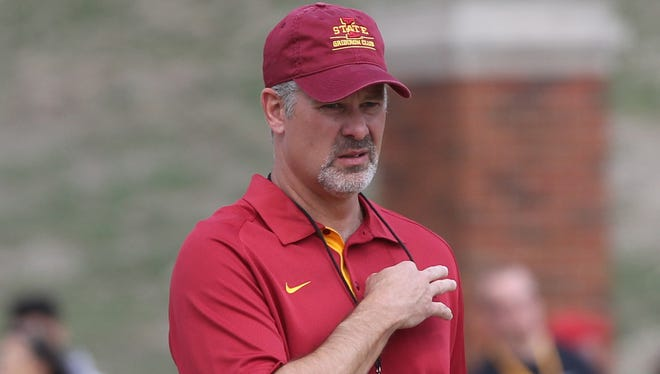 Iowa State football coach Paul Rhoads