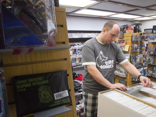 Kyle Hearn, owner of Dire Comics, files a collectible