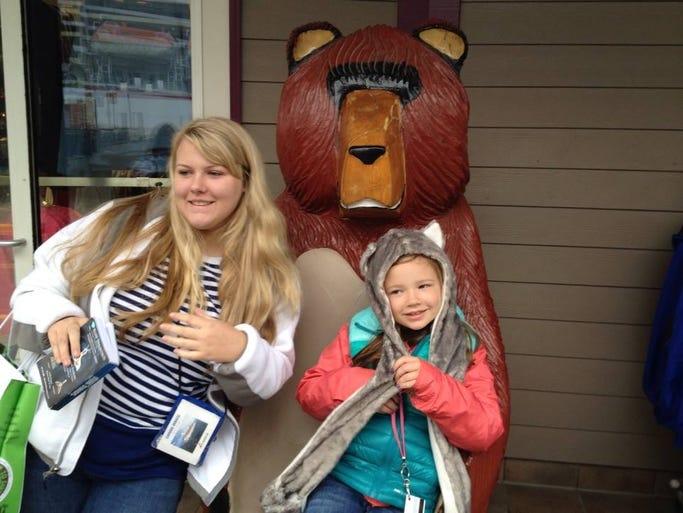 Emily Ruckle with half-sister Megan Carpenter